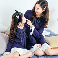 Girls Sleepwear Matching Family Outfits Nightgowns for Girls Nightwear Mother Daughter Girls Pajamas Dress Princess Nightdress