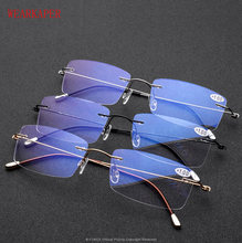 8b2d29418b0 WEARKAPER Rimless Reading Glasses Men Titanium Old Women Eyeglasses  Presbyopic Hyperopia Frameless Screwless Eyewear 1.0 -3.0