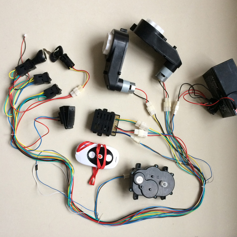Children electric car DIY modified circuit wires,Self made