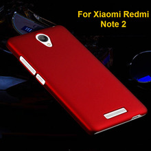 Colorful Oil-coated Rubber Matte Hard Case for Xiaomi Hongmi Note 2 Redmi Slim Frosted Back Cover Plastic