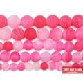 Бесплатная доставка Натуральный Камень Frost Краб пурпурный Агаты Круглый Loose Бусины на возраст 6, 8, 10, 12 лет мм Палочки Размеры для изготовления ювелирных изделий - фото