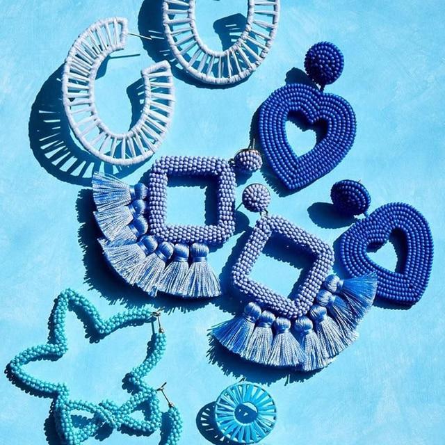 Лучшее для леди в богемном стиле ручной работы серьги с кристальным бисером свадебные украшения Для женщин бисера сердце подвеска с бахромой, серьги-капельки вечерние подарок