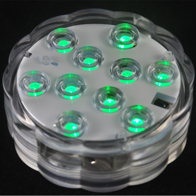 different Colors Dual Led Waterproof Tea Light Battery Powered Submersible Led Lighting For Pools 100 Pieces/lot Spirited