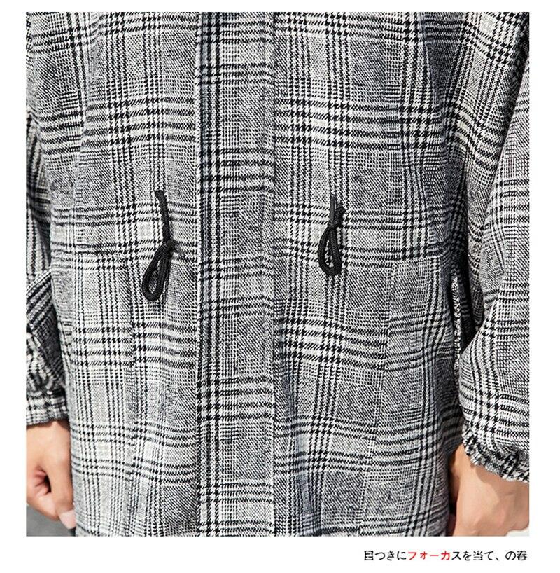 Male Long Coat Oversize Lapel Button Sobretodos Hombre Overcoat Streetwear (37)