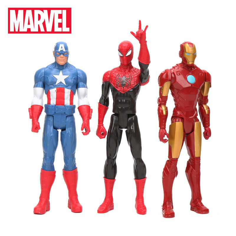 30CM Marvel Toys Avengers 3 Infinity War SuperHeroes Captain America Ironman Black Spiderman PVC Action Figure Collectible Model(China)