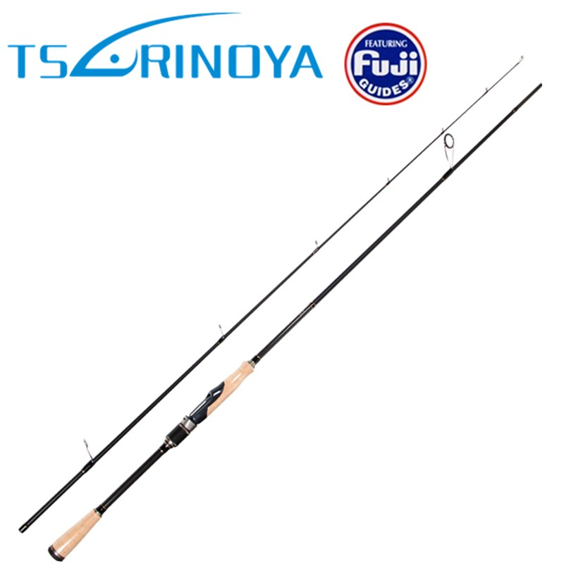 Tsurinoya 2 Sections Spinning Fishing Rod 2.01m/2.13m ML/M Carbon Lure Rods FUJI Accessories Action:Fast Pesca Tackle Stick tsurinoya 2 secs baitcasting fishing rod 1 95m 2 13m ml m fast carbon lure rods fuji accessories pesca fishing tackle bass stick