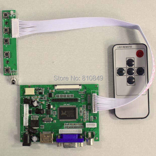 HDMI/VGA/2AV+Reversing  LCD Driver board work for 7inch AT070TN92 800*480 lcd display vga 2av revering driver board 8inch 800 600 lcd panel ej080na 05b at080tn52