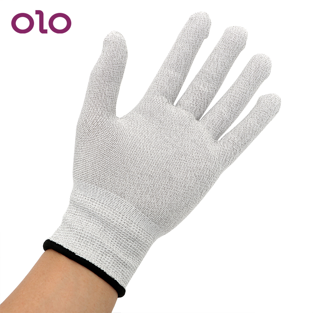 OLO Electric Shock Gloves Sex Toys For Men Women Conductive Massage Erotic Medical Themed Toys Electro Stimulation