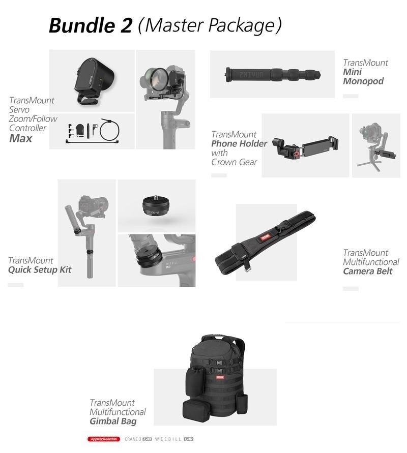 Zhiyun Servo suivre Focus support pour téléphone monopode installation rapide Kits de sac de cardan pour Zhiyun Weebill lab stabilisateur de poche