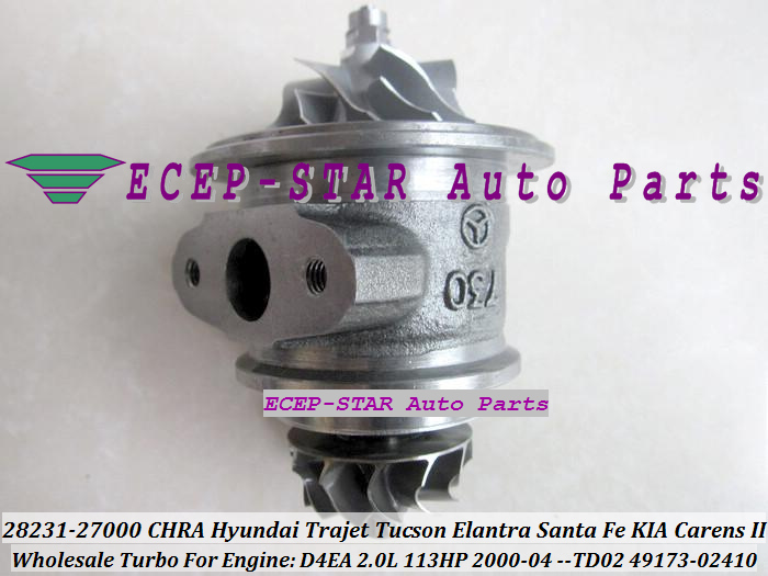 Turbo CHRA Cartridge 28231 27000 2823127000 4917302410 49173-02412 49173-02401 4917302412 4917302401 49173 02412 49173 02401