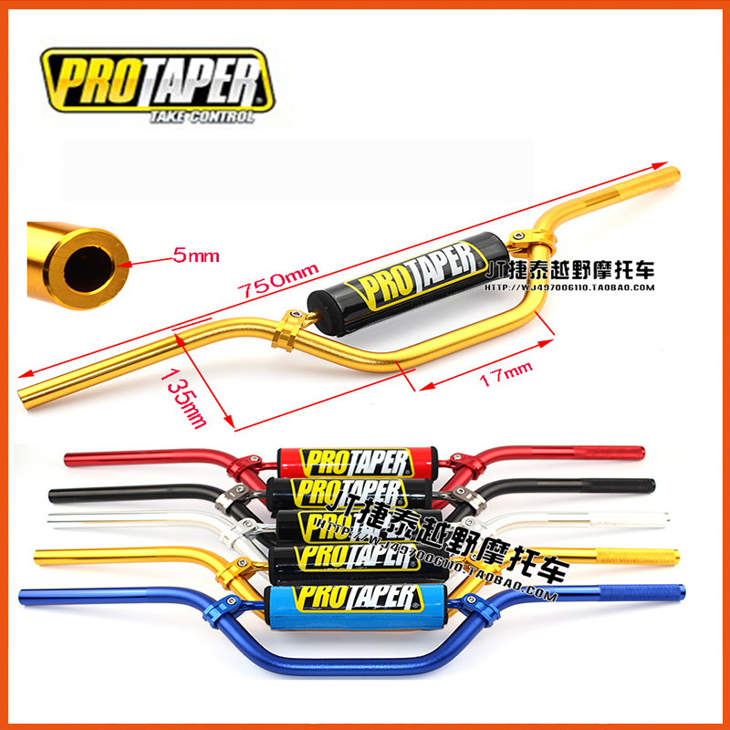 "moto Pro Taper Fat Bar 1-1 / 8 ""22mm Pit Dirt Bike Manubrio Barra inferiore con manubrio bilanciatore pad 50cc 110cc 125cc"