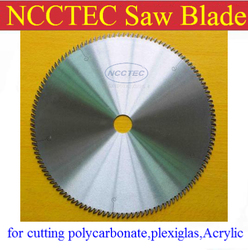 12 ''120 tanden 305mm Hardmetalen zaagblad snijden polycarbonaat, plexiglas, perspex, Acryl/Professionele 15 graden AB tanden