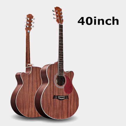 40inch 41inch Cutaway Folk Acoustic Guitar With Bag Rosewood With Accessories For Beginner Music Player 30 34 36 inch novice guitar beginner folk guitar six chord little guitar