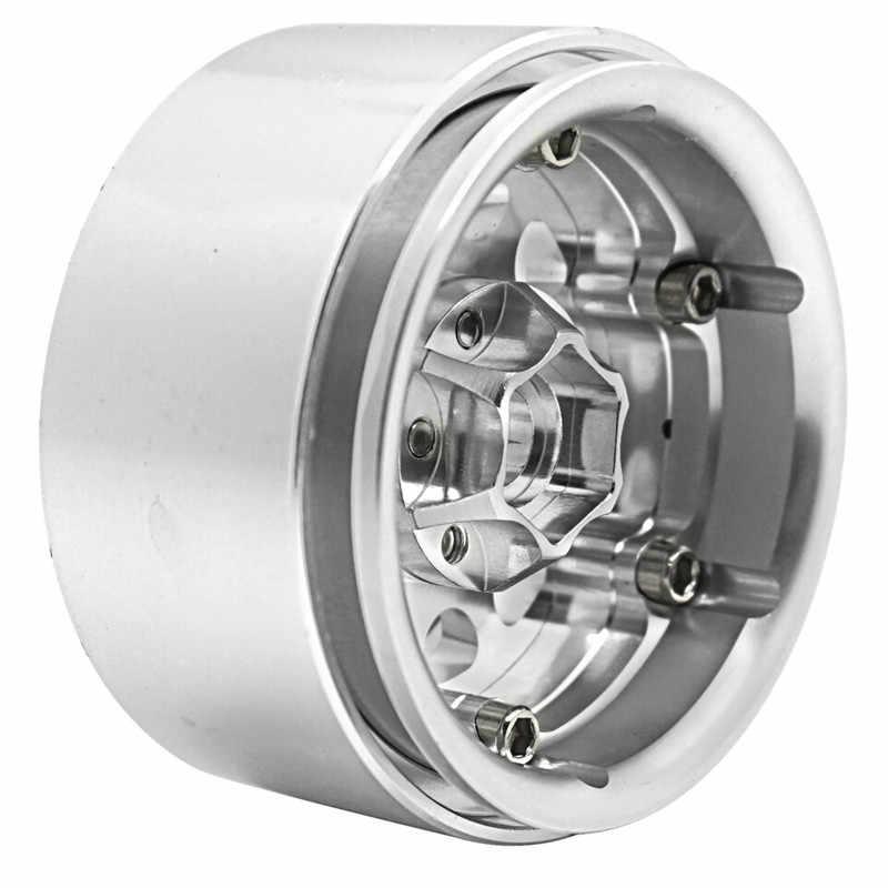 AXSPEED 1 pcs Hoge Kwaliteit Aluminium Velg 1.9inch Velgen voor 1/10 RC D90 SCX10 CC01 D110 rock Crawler 1.9 Wielen