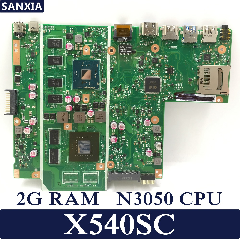 цена на KEFU X540SC Laptop motherboard for ASUS X540SC X540S X540 Test original mainboard 2G RAM N3050 CPU