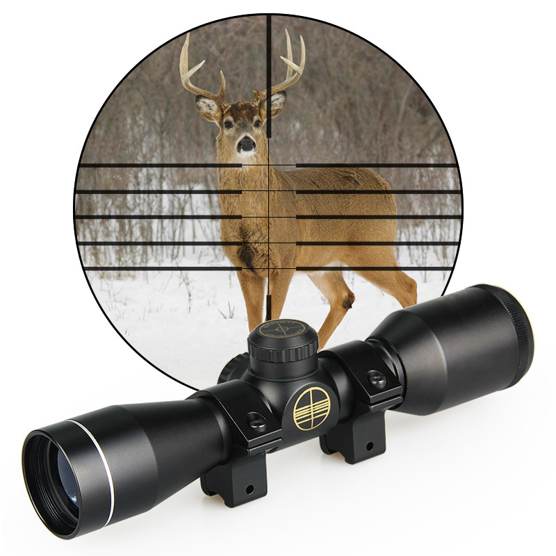 Spotting-Scope Hunting 4x32 Canis Latrans Mount Rifle Tactical With