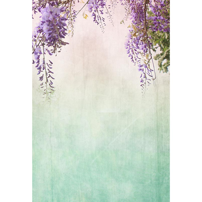 Us 709 25 Offpurple Flowers Photography Backdrops Pastel Backgrounds For Photo Studio Baby Shower Portrait Photo Shoot Vinyl Cloth Customized In