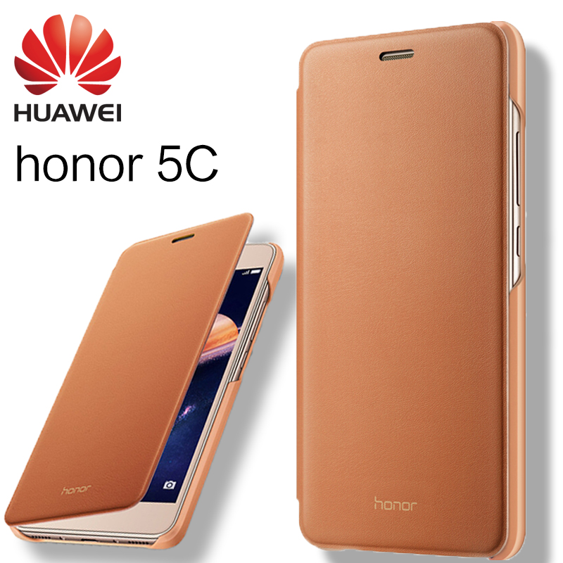 HUAWEI honor 5C case 100 original leather case mobile phone sets smart flip cover protective sleeve