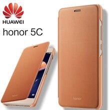Huawei Honor 5C чехол 100% оригинальный кожаный чехол мобильного телефона комплекты Смарт откидная крышка защитный рукав 5.2 дюйм(ов) Honor 5C shell