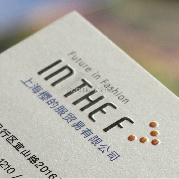 New style 600gsm cotton paper name card letterpressed business cards ...