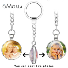 цены Double Face Handmade Personalized Custom Keychains Baby Family Photo Keyrings Key Chain Rings Holder Wedding Gift