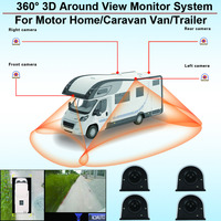 360 3D Around View Monitor AVM System Surveillance Panoramic Security Camera Video DVR Recorder for Motor Home Caravan Van Trail