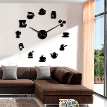 1 Buah Kopi Waktu Diseduh Sendiri Jam Dinding Modern Desain Dapur Clock Jam  Tangan Clock Sticker Kopi Mug Dinding Seni Dekoratif. c52101c9a5