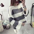 Oversized Sweater Women Pullover 2016 Fashion New Autumn Winter O-Neck Knitted Sweaters Tricot Sudaderas Pull Femme Jumper Trui