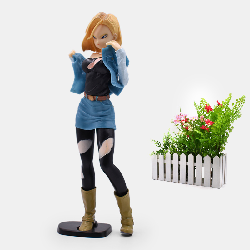 Anime <font><b>Dragon</b></font> <font><b>Ball</b></font> Z Android 18 Lazuli Battle Damage <font><b>Action</b></font> <font><b>Figure</b></font> PVC <font><b>Sexy</b></font> Girl Collectible Model Christmas Gift Toy For Kids image