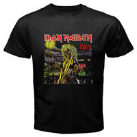 New IRON MAIDEN Killers Heavy Metal Rock Band Men S Black T Shirt Size S To