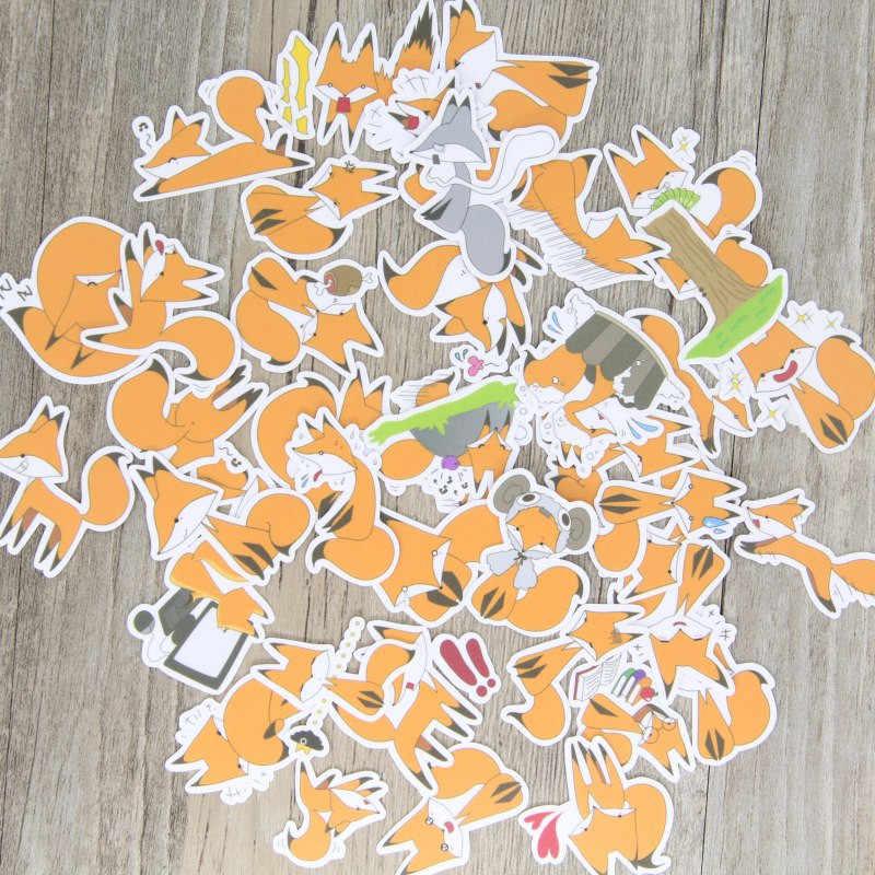 40 шт./партия забавная маленькая лисица DIY декоративная бумажная наклейка для телефона автомобиля ноутбука альбом дневник Рюкзак Детские игрушечные наклейки