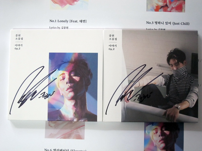 Firmato SHINEE Jonghyun Kim Jong Hyun autografato Storia Op. 2 2017 K-POP coreano