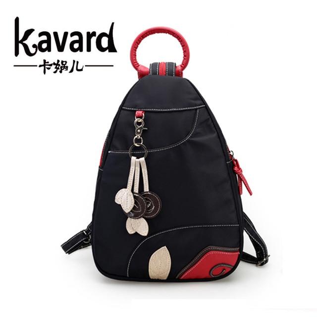 Kavard Waterproof Nylon Women Backpacks For Teenage Girls Travel Bag Mochila Escolar Feminina Fashion Youth Backpack School Bags