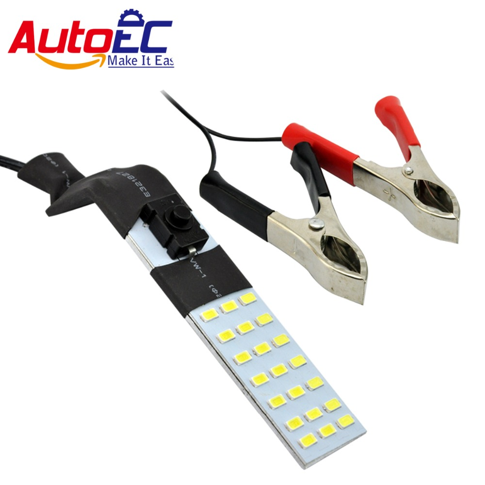 AutoEC 1set LED Car Motorcycle 21smd 5630 led magnet emergency lights with Positive and negative clamps dc12v #LQ367b