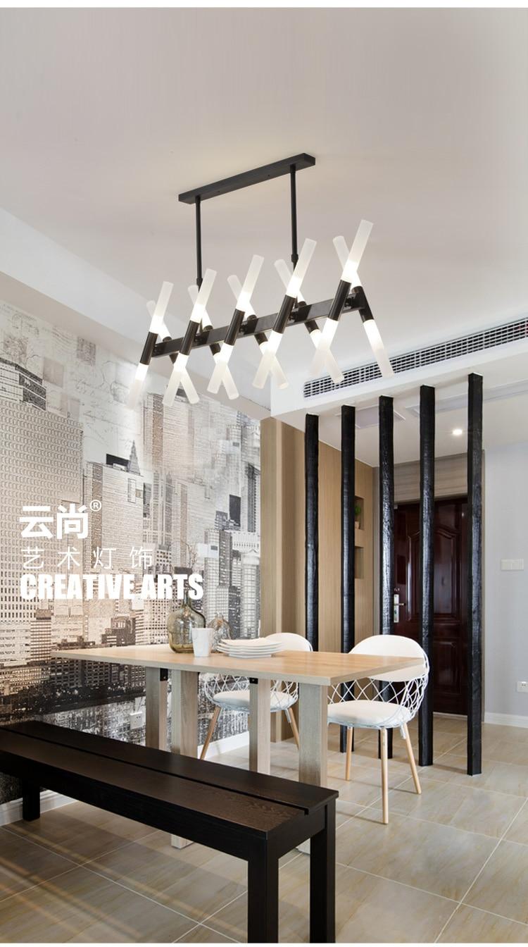 Esszimmer LED Traditionelle kronleuchter Industrial & Schwarz ...