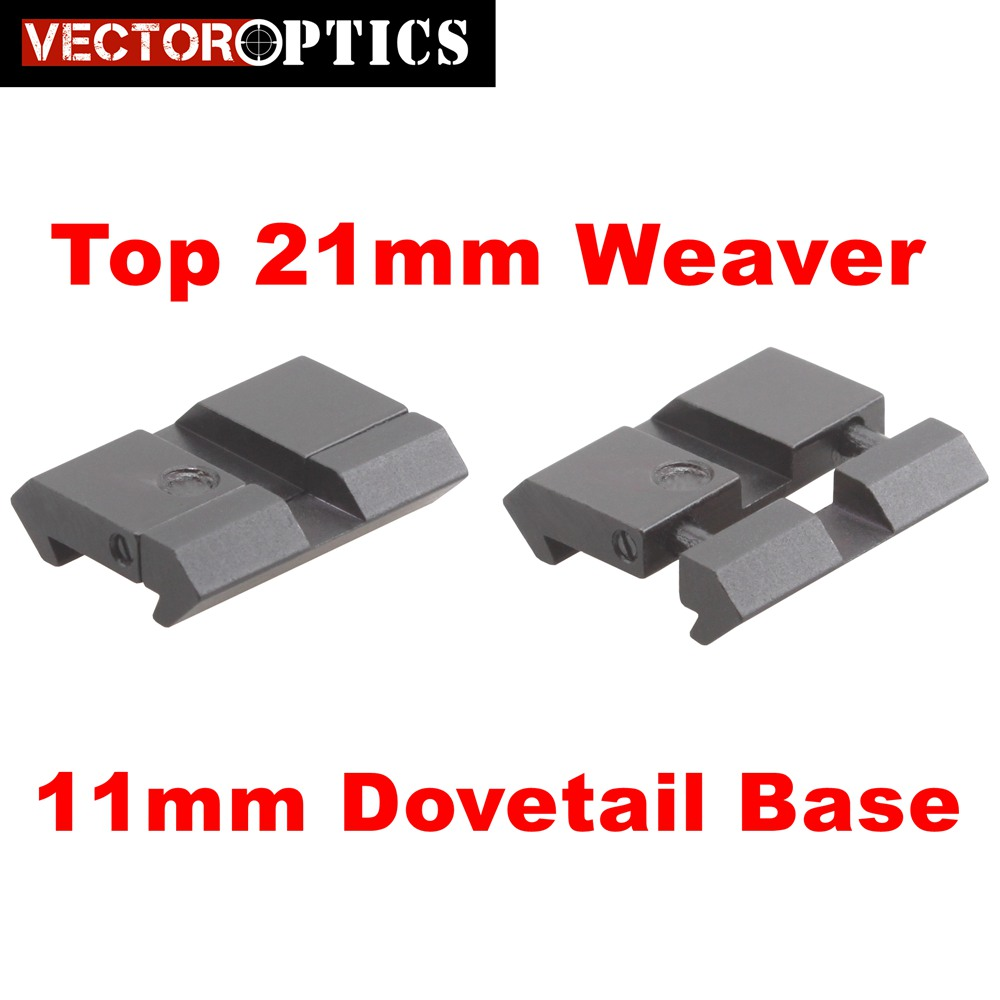 3//8  RIFLE TO WEAVER ADAPTOR BASE 1 PIECE 11MM AIRGUN PICATINNY