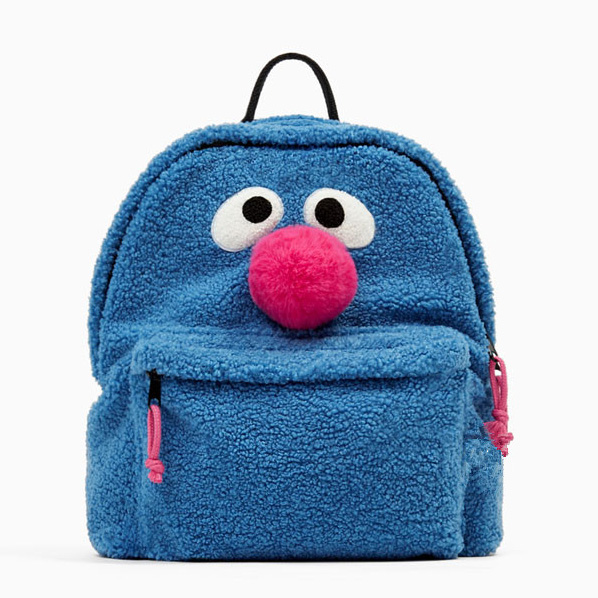 Cute Cartoon Sesame Street Elmo Moppy Backpack Student School Bag For Woman Children Rucksack Mochila Bag Backpack Sesame Street