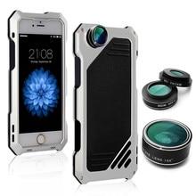 Высокое качество с HD объектива металлические телефон случаях Водонепроницаемый пыле антидетонационных Защитная крышка для Apple Coque iPhone 6 6S Чехол