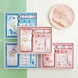 Image 1 - Flamingo Bullet Journal ของขวัญกล่องชุดเกาหลี Freshness ของขวัญนักเรียนเครื่องเขียนโน๊ตบุ๊ค