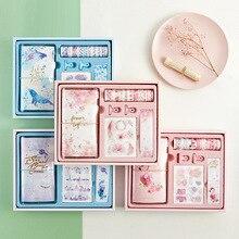 Flamingo Kugel Journal Geschenk Box Set Korea Frische Student Geschenk Schreibwaren Reisende Notebook