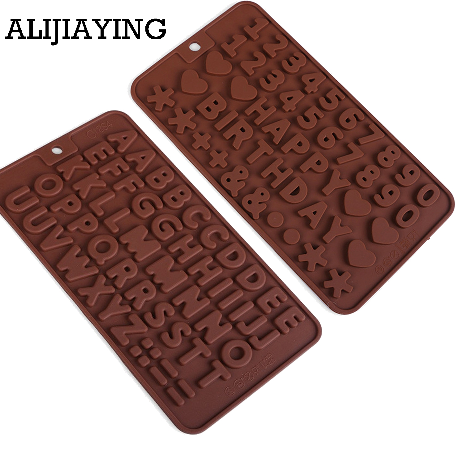 A187 Cake Decorating Tools Silicone Chocolate Mold Letter And Number Fondant Molds Cookies Bakeware Tools