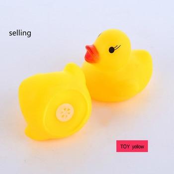40 unids/lote que mantiene alejado el pegamento de natación pato de goma una pizca sonará rompecabezas pato Baño de bebé LZ