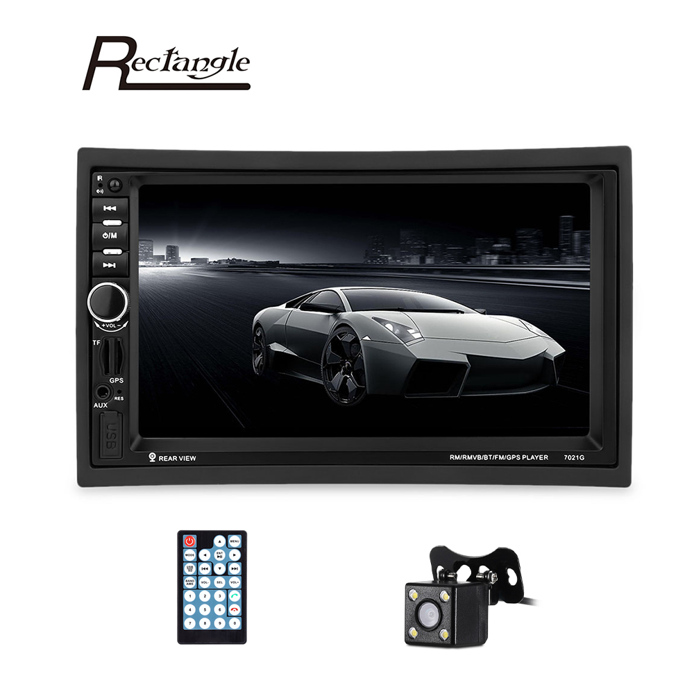 Clearance 7021G 7 inch Vehicle MP5 Player 2 Din Bluetooth Multimedia FM Radio GPS Rear View Camera Remote Control 7 inch 2 din 7021g car mp5 player gps navagation bluetooth auto multimedia player with fm radio rear view camera remote control