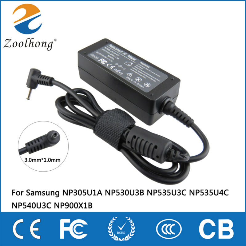 19V 2.1A 40W laptop AC power adapter charger for Samsung NP305U1A NP530U3B NP535U3C NP535U4C NP540U3C NP900X1B 3.0mm * 1.0mm19V 2.1A 40W laptop AC power adapter charger for Samsung NP305U1A NP530U3B NP535U3C NP535U4C NP540U3C NP900X1B 3.0mm * 1.0mm