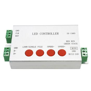 led strip screen controller,1 port drives 2048 pixels,programmable,support dozens of led chips,full color controller,PC software