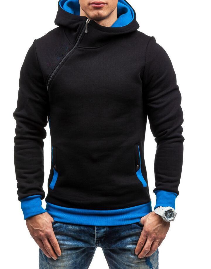 HEYKESON Brand 2017 Hoodie Oblique Zipper Solid Color Hoodies Men Fashion Tracksuit Male Sweatshirt Hoody Mens Purpose Tour XXL HEYKESON Brand 2017 Hoodies, with an chest Zipper HTB16NY2SFXXXXcFXXXXq6xXFXXXp