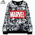 Printed sweatershirt Marvel Moletom Hoodies for women casual full sleeve Harajuku Black female Sweatwear Spring Autumn Style