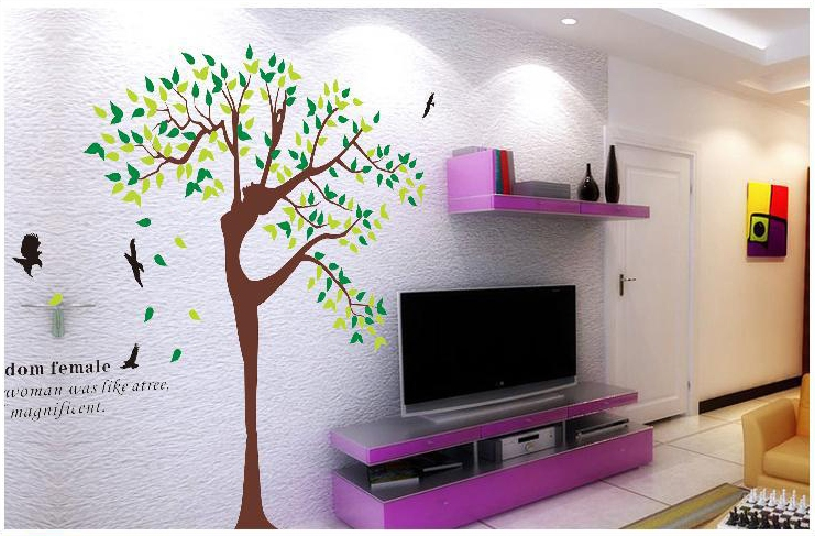 Natural Wonders The Bedroom Of Children Room Sitting Cartoon Tv Background Mural Can Remove Adhesive Stickers In From Toys Hobbies On