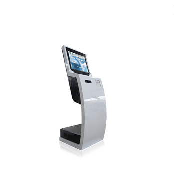 19 inch floor standing landscape display touch screen information kiosk