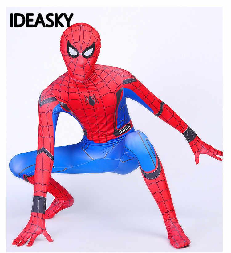 子供鉄 marvel legends Spiderman 帰郷衣装スパンデックス全身タイツスパイダーマンザ · アメージングスパイダーマンコスプレスーツ子供少年